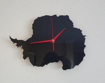 Antarctica Silhouette Clock