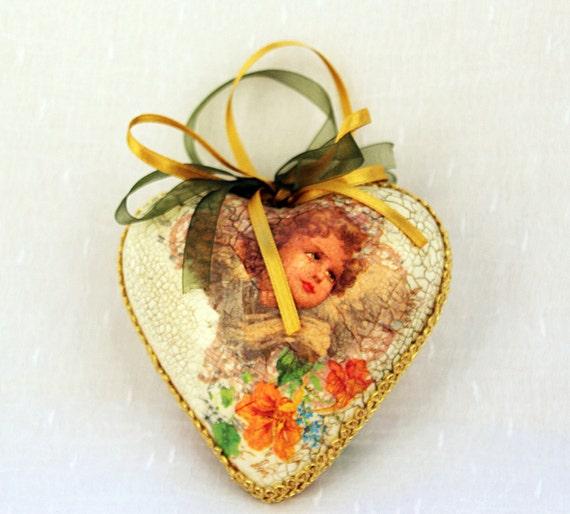 Christmas decorations, Christmas ornaments large, Xmas decor angel, girlfriend Christmas gift, gift for girl, xmas gift wife, big heart gift
