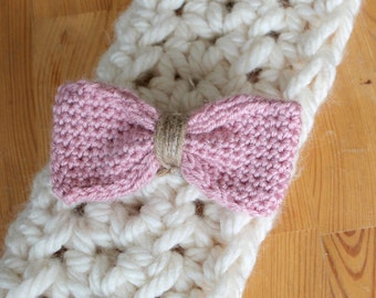 Accessories for hair clip loop tricottee Pink for women and children