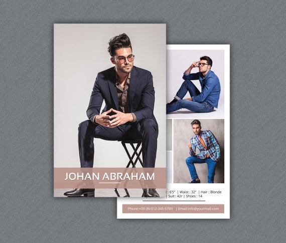 Model comp card template modeling comp card photoshop for Free model comp card template psd