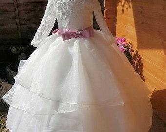 Layered Flower Girl Ballroom Dress