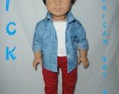 """American Girl Boy Doll Custom 18"""" Boy Doll Brand New"""