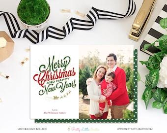 Christmas Card - Printable Photo Card - Christmas - Printable Chrismas Card - Modern Christmas Card - Personalized - Merry Christmas