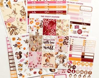 Glitter Woods Kit: VERTICAL Erin Condren Stickers