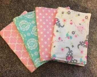 4 Baby Burp Cloths