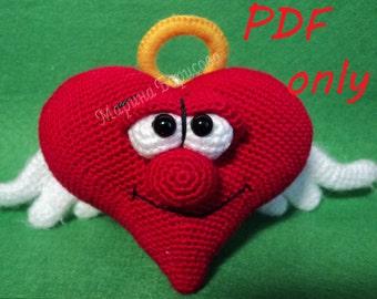 Heart Crochet Pattern amigurumi PDF