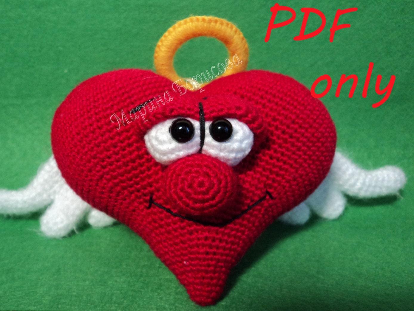 Big Heart Amigurumi Pattern : Heart Crochet Pattern amigurumi PDF