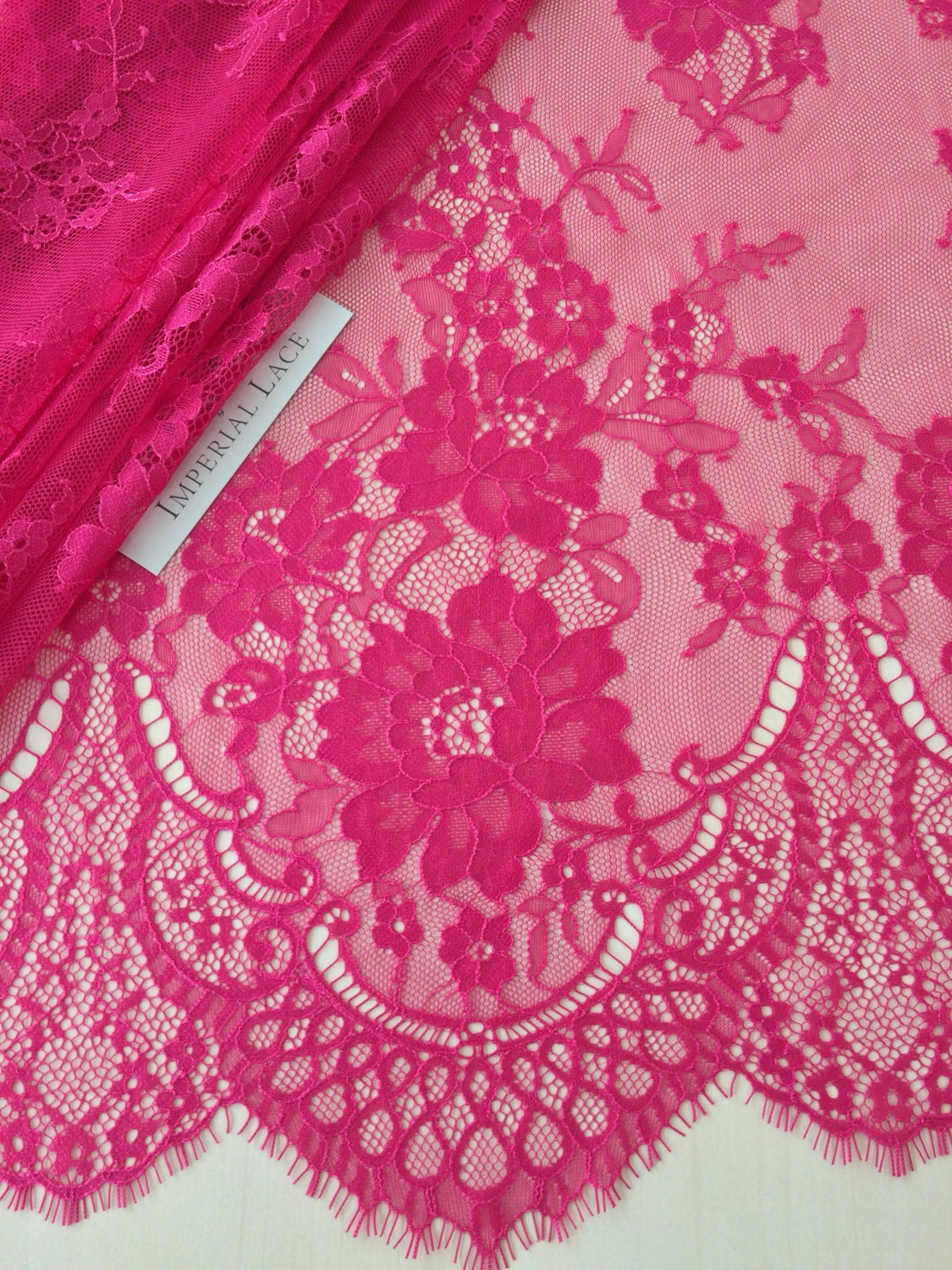 Fuchsia Pink lace fabric Wedding lace lingerie lace