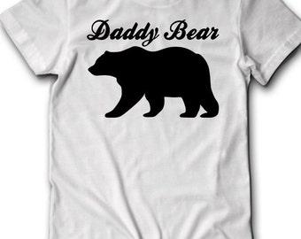 Daddy Bear Shirt Fathers Day gift ideas Tee Mens Present Grandad Papa Bear Poppa Baby Shower Grandfather Dad Fatherhood Family