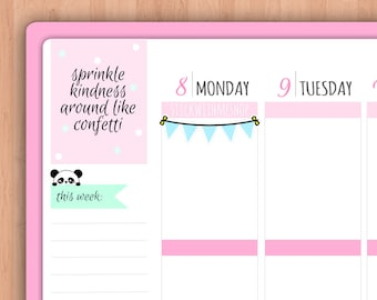 Bunting banners PLANNER STICKERS (SWM2)