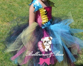 "Nightmare before Christmas ""Sally"" inspired tutu dress costume. The perfect partner for Jack skellington"
