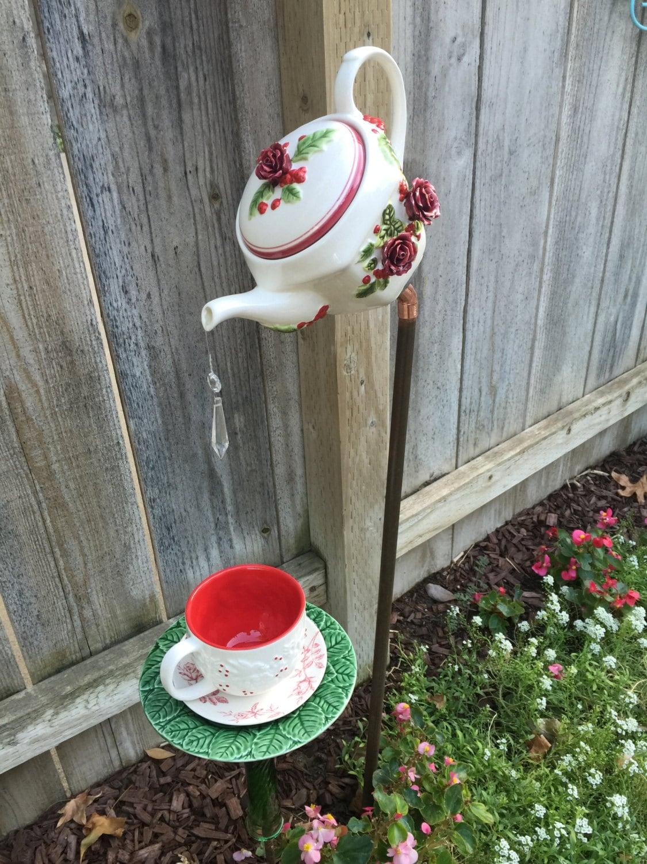 Teapot And Teacup Garden Decor Christmas Yard Art