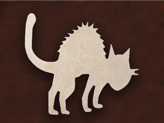 MDF WOOD CAT Craft Cutout Shapes Sizes 5X 5