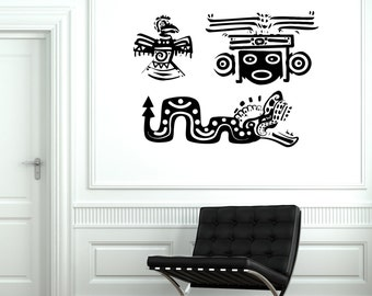 Wall Decal Indian Mexican Animal Ornament Cool Mural Vinyl Decal 1854dz