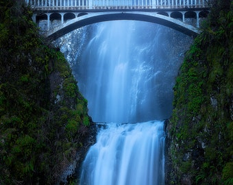 Frozen, winter, snow, waterfall, multnomah falls, oregon, columbia river gorge, chris williams, waterfalls, wall art, pacfic northwest