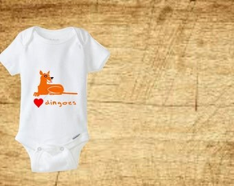 Dingo Bodysuit. Baby bodysuit. Baby clothing. Baby clothes. Baby shower gift. Baby tee. Toddler tee. Newborn outfit. Take home outfit.