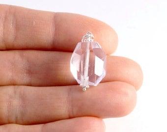 AAA Pink Amethyst Pendant - Sterling Silver Dangle Bead  - Genuine Light Pink Amethyst - Natural Gemstone Jewelry - February Birthstone