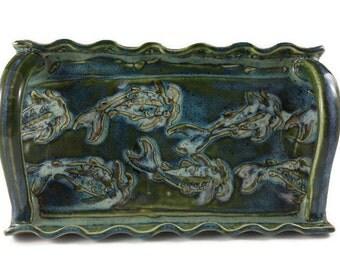 Ceramic Tray, Decorative Tray, Fish Tray, Pottery and Ceramics,