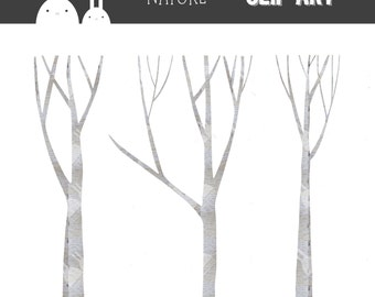 Birch Trees Clip Art Set - Commercial & Personal Use