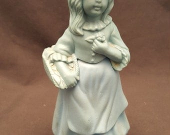 Vintage Avon Little Girl Blue Unforgettable Figurine Cologne Perfume Bottle Empty