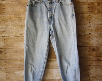 Size 329 Levi's 512Tapered Leg Jeans - Hip Hop - BOHO  High Waist Distressed Denim Light Wash Jeans
