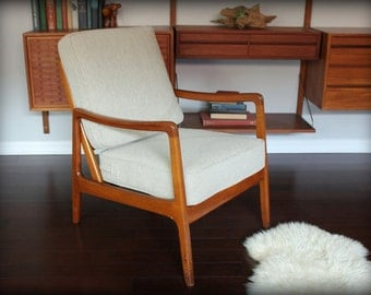 Ole Wanscher Danish Modern Teak Lounge Chair France & Son / John Stuart Inc.
