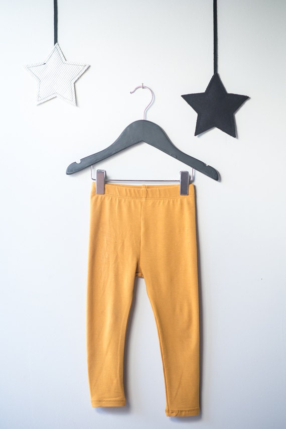 CASTOR - plain long legging - mustard yellow