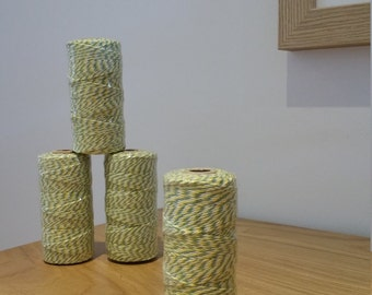 Yellow, Green & White Twine 100m