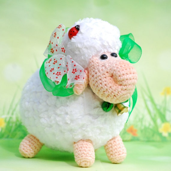 Amigurumi Sheep Doll : Sheep Amigurumi Plush sheep Mew Year Sheep Knit Sheep
