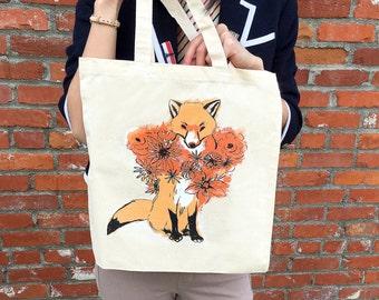 Flower Fox Tote