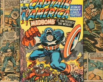 Attirant Captain America Jack Kirby Comic Book Wall Art