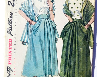 Vintage Simplicity 2833 Sewing Pattern Women's Skirt Dated 1940's