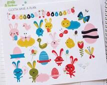 Easter Planner Stickers for Erin Condren, Happy Planner, Filofax, Scrapbooking