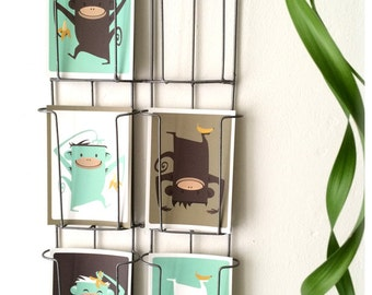 """5 Monkey cards - Discount Pack - all 5 """"monkey with banana"""" cards"""