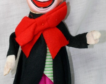 Vintage Toy Clown Doll Made In Japan Doll 1960's