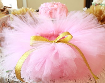 Pink and gold first birthday tutu