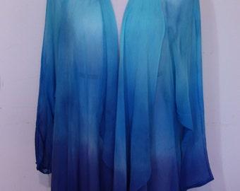 Jacket, Chiffon Jacket, Ocean Blue, Mother's day Gifts, Silk Jacket, Woman's Jacket