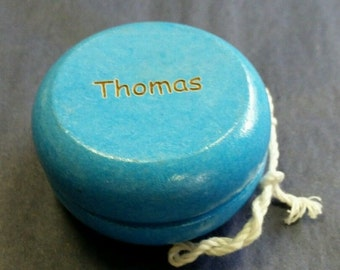 Personalised Engraved Wooden Yoyo, choice of 4 colours