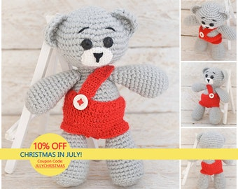 Dreamy teddy bear Baby gift Crochet teddy bear Children stuffed toy Soft toy for kid Handmade toy Interior doll Gift for her Gift for him