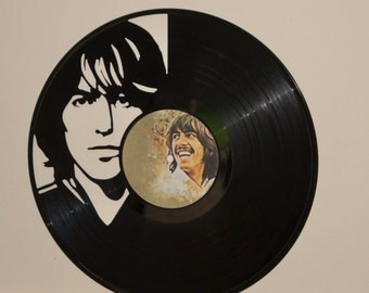 The Beatles George Harrison Vinyl Record Wall Art