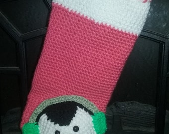 Crochet Penguin Christmas Stocking