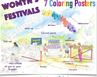 Coloring Posters of Womyn's Festival