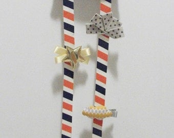 stripe hair clips holder