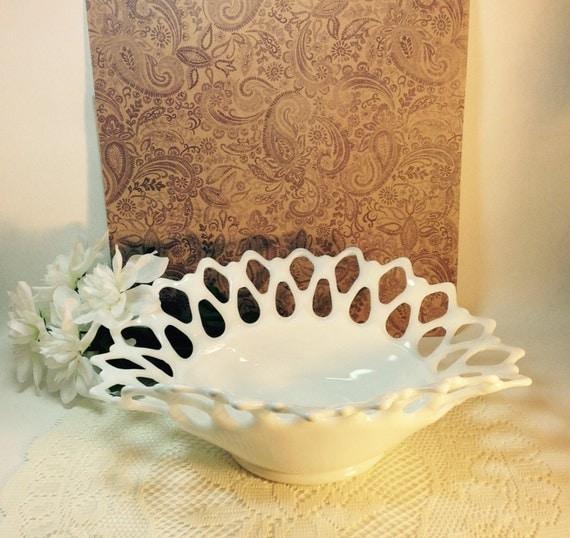 Items Similar To Vintage Westmoreland White Milk Glass