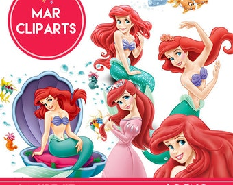 THE Little Mermaid Cliparts
