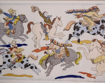 Patrice Aggs' print-- Cowboys and Indians