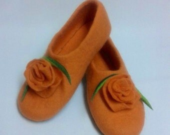 Sale-22% OFF Felted wool Woman Slippers, house shoes, organic sheep wool slippers, Ecofriendly Mothers day gift
