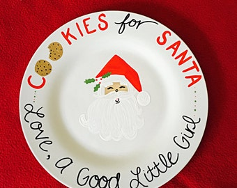 Personalized Santa Cookie Plates