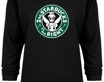 Disney Inspired Tinkerbell Starbucks Spoof Vacation sweatshirt
