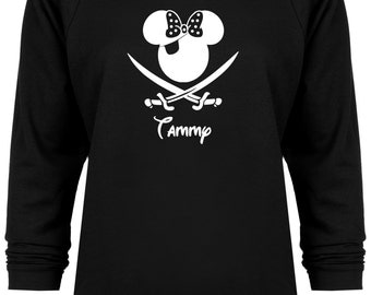 Disney Cruise Inspired Minnie Mouse Pirate personalized Vacation sweatshirt